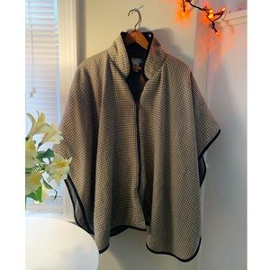 Free People winter zip-up cape